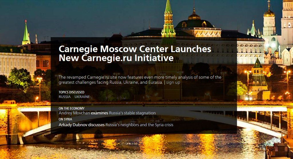 RT @Carnegie_Europe Check out the new @CarnegieRussia site for fresh analysis on #Russia, #Ukraine, and Eurasia