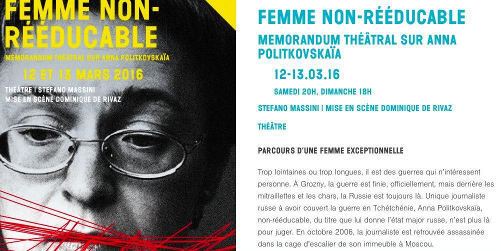 A propos d'Anna Politkovskaia dans «la Puce à l'Oreille»